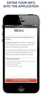 Step 3 in applying for financing from M.E.S.A.