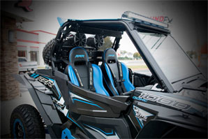 Custom Rzr powersports lighting audio upgrades