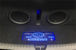 Custom subwoofer Hyundai project