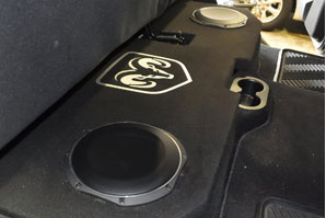 Custom subwoofer Dodge Ram