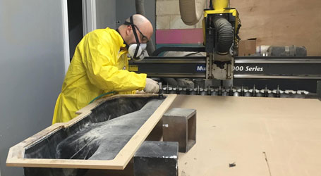 custom speaker cabinet build CNC router table SoundFX West Warwick