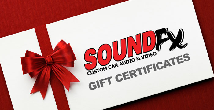 Purchase SoundFX Gift Certificates Online